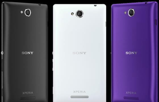 Xperia C laat zich zien op Sony's Engelstalige website