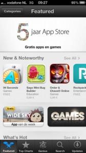 5 jaar app store