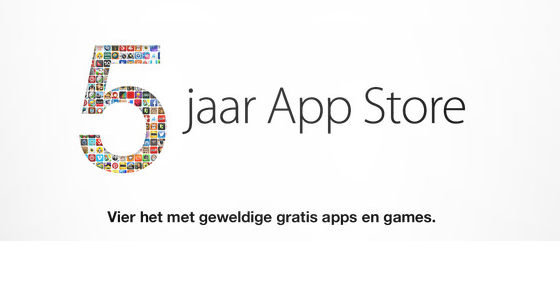 Apple viert 5 jaar App Store en releaset iOS 7 beta 3