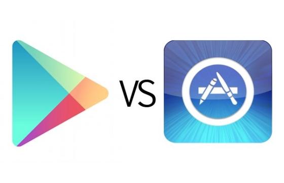 Meer app-downloads in Google Play dan in App Store