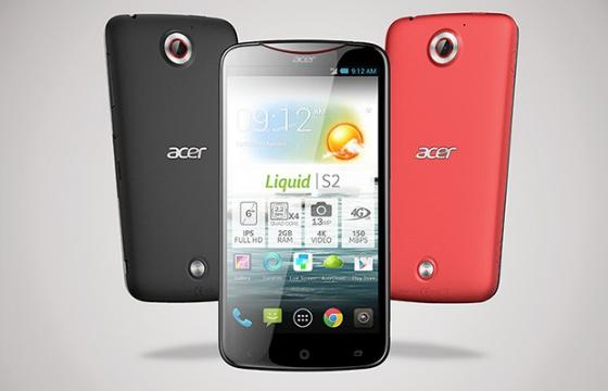 Acer Liquid S2 aangekondigd, kan video's schieten in 4k-kwaliteit