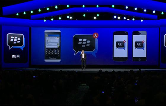 BlackBerry Messenger gebruik op Android en iOS naar 5 miljoen