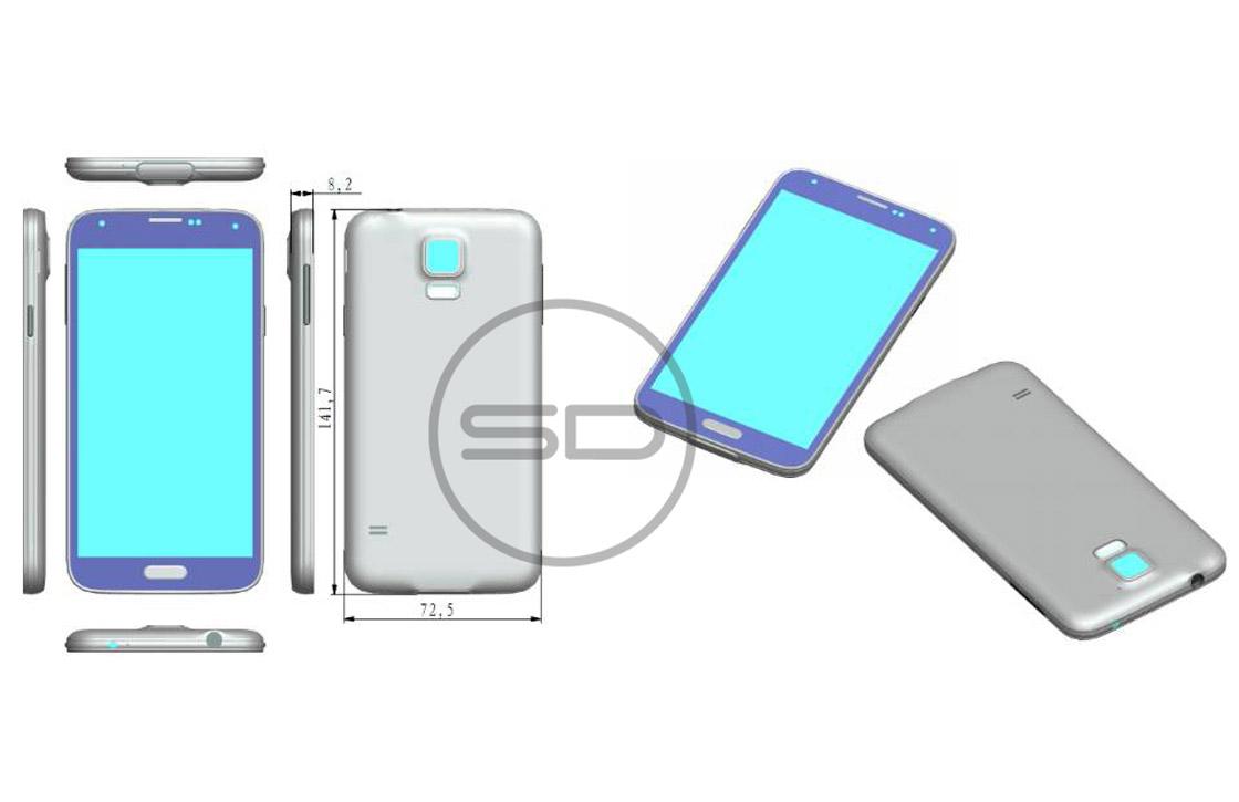 'Galaxy S5 wordt breder, hoger en dikker dan zijn voorganger'