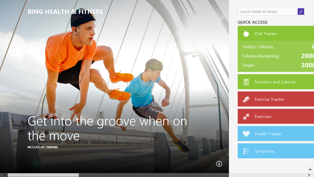Werk aan je lichaam met fitness-app Bing voor Windows Phone