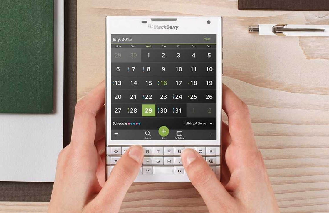 BlackBerry: 'Fysiek toetsenbord verdwijnt voorlopig niet'