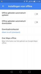 Google Maps offline kaarten