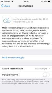 whatsapp backup maken