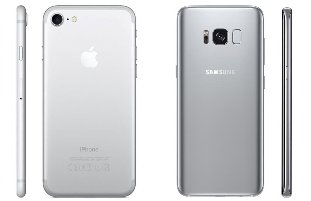 galaxy s8 vs iphone 7