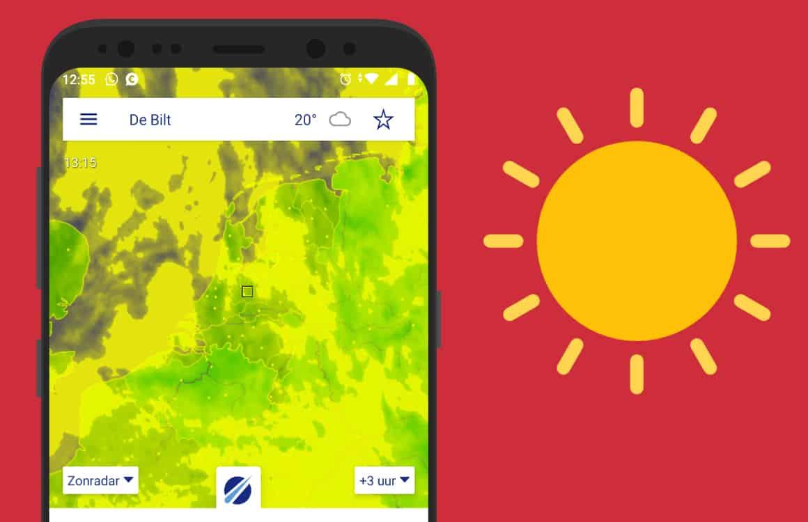 Waar en wanneer schijnt de zon? Check het met deze 3 apps