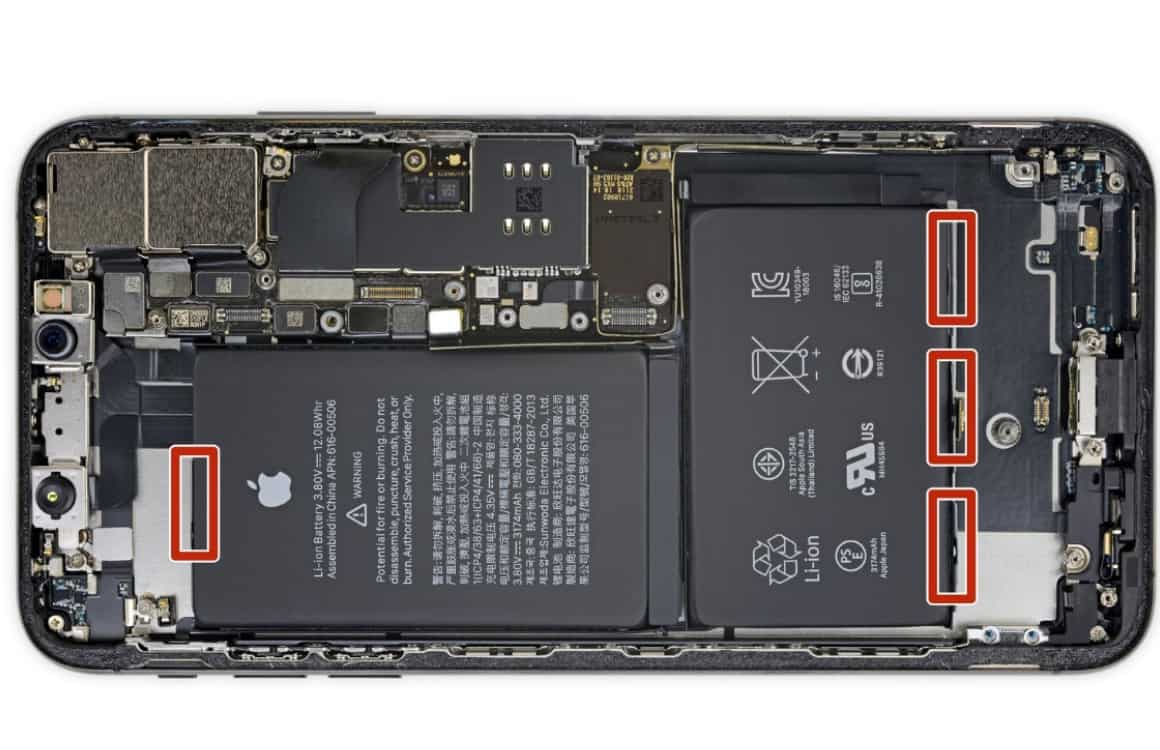 Batterij vervangen voorbeeld iPhone XS Max 2
