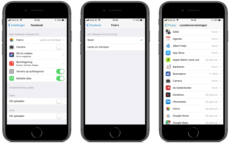 app-machtigingen beperken op iPhone