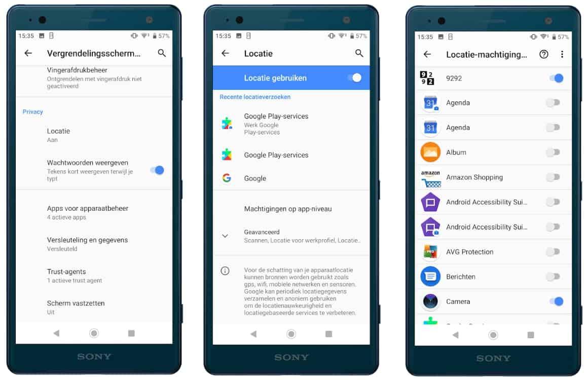 app-machtigingen beperken op Android