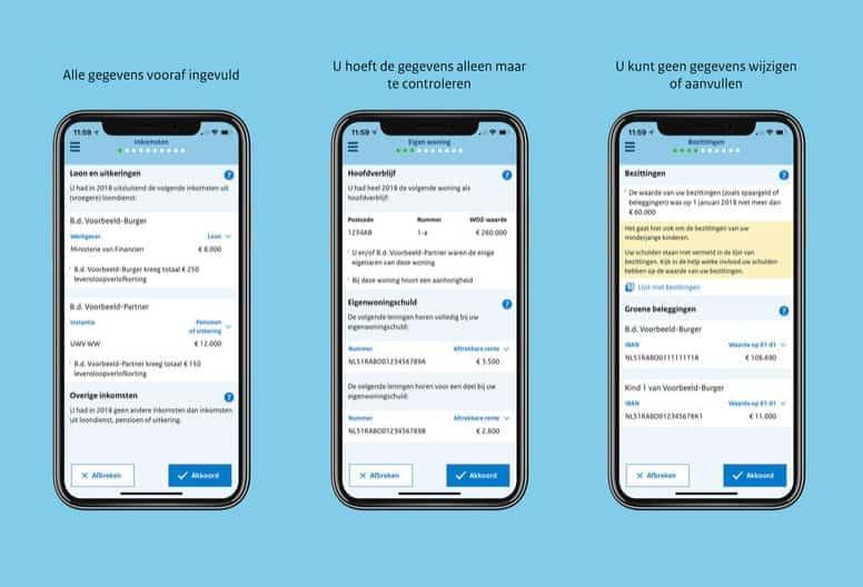 Belastingaangifte app