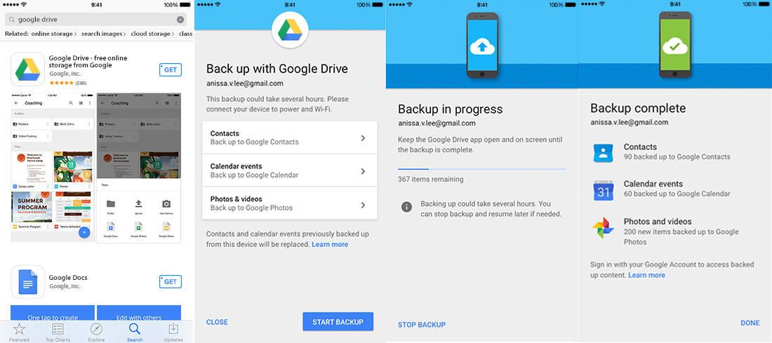 Google Drive overstappen